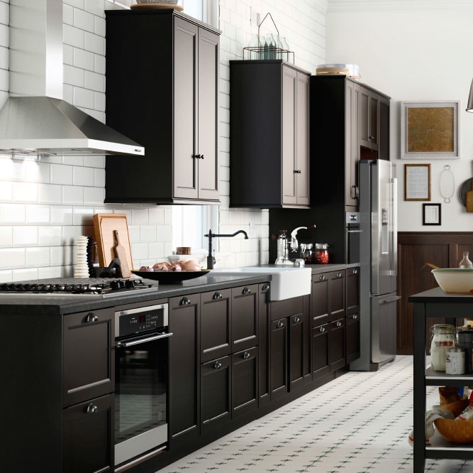 Cuisine Laxarby Ikea Cheap Ikea Ringhult Kitchen With