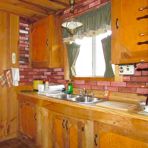 Used Kitchen Cabinets Houston: Log Cabin Kitchen Remodel Installed Woodland Cabinetry T