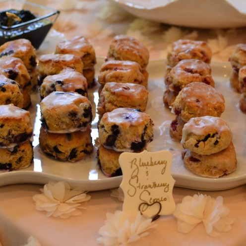HOW TO HOST A BEAUTIFUL BRIDAL SHOWER | www.AfterOrangeCounty.com |#Blueberry & #Strawberry #Scones