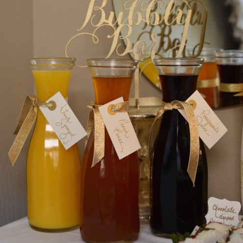 CHAMPAGNE COCKTAIL ANYONE? How to host a beautiful Bubbly Bar   www.AfterOrangeCounty.com
