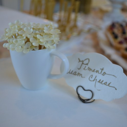HOW TO HOST A BEAUTIFUL BRIDAL SHOWER | www.AfterOrangeCounty.com | Heart Shaped Place Card Holders By BHLDN.com