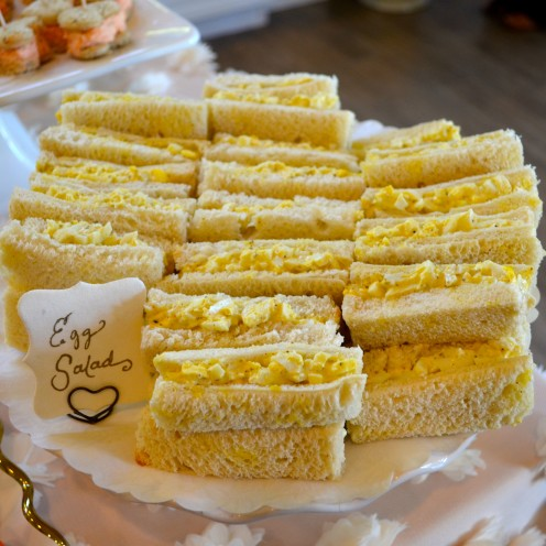 HOW TO HOST A BEAUTIFUL BRIDAL SHOWER | www.AfterOrangeCounty.com | Egg Salad Sandwiches