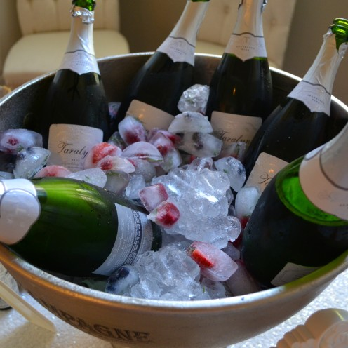 CHAMPAGNE COCKTAIL ANYONE? How to host a beautiful Bubbly Bar | www.AfterOrangeCounty.com | #Champagne