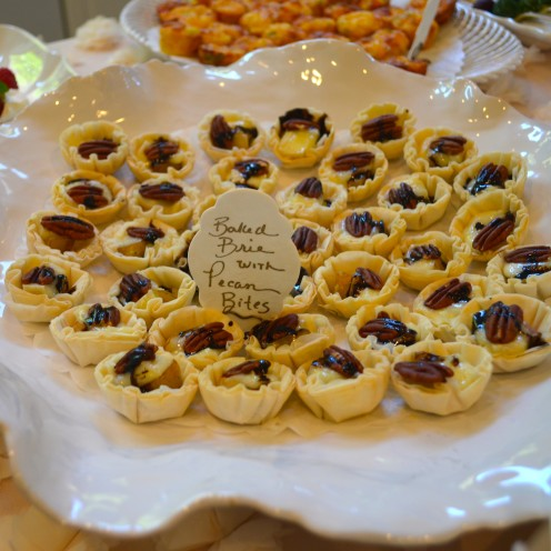 HOW TO HOST A BEAUTIFUL BRIDAL SHOWER | www.AfterOrangeCounty.com | Baked Brie, Pear & Pecan Bites