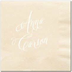 HOW TO HOST A BEAUTIFUL BRIDAL SHOWER | www.AfterOrangeCounty.com | #Bubbly #Bar #Napkins from Wedding Paper Divas