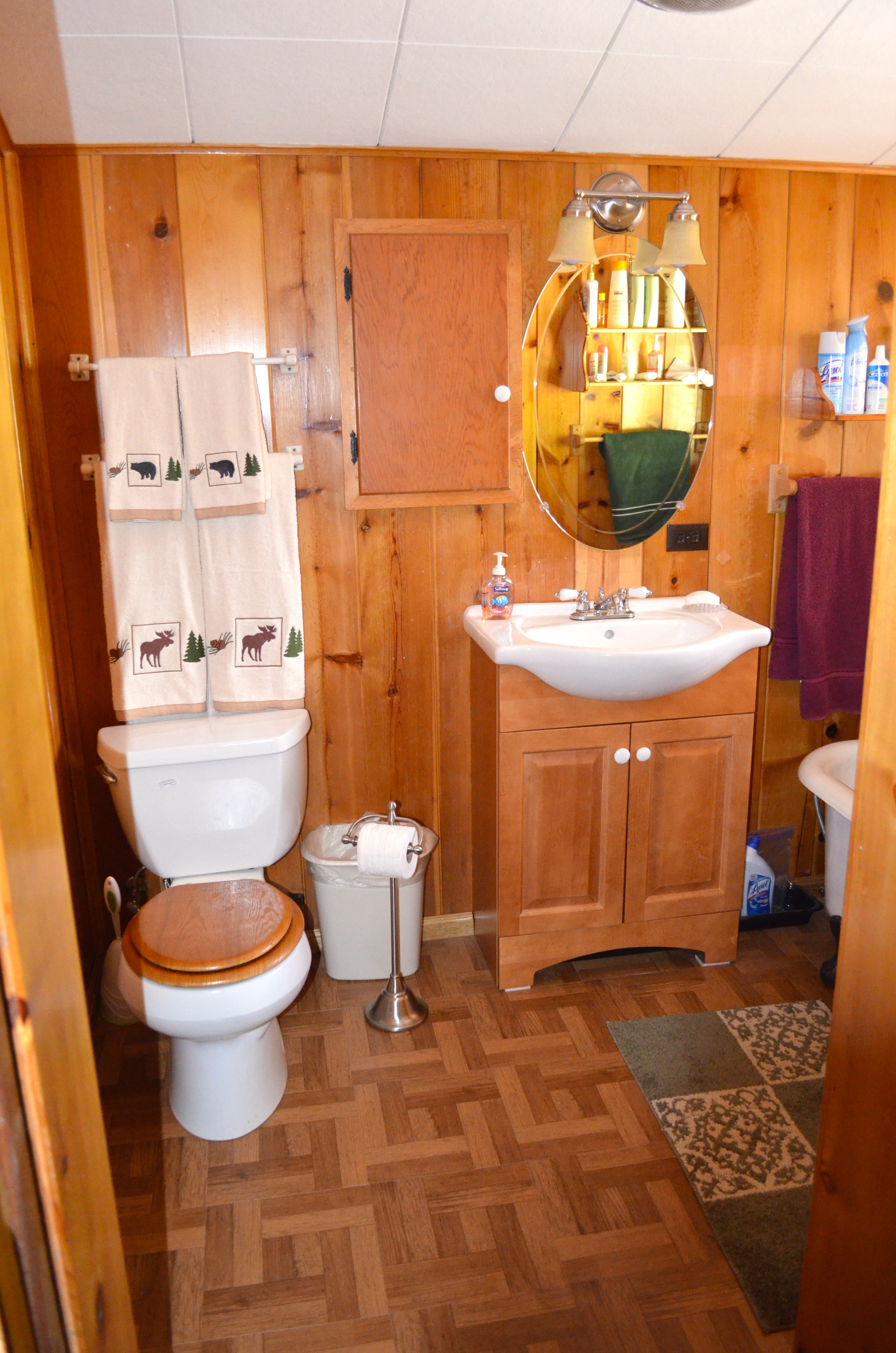 Introducing My Log Cabin Bathroom Renovation After