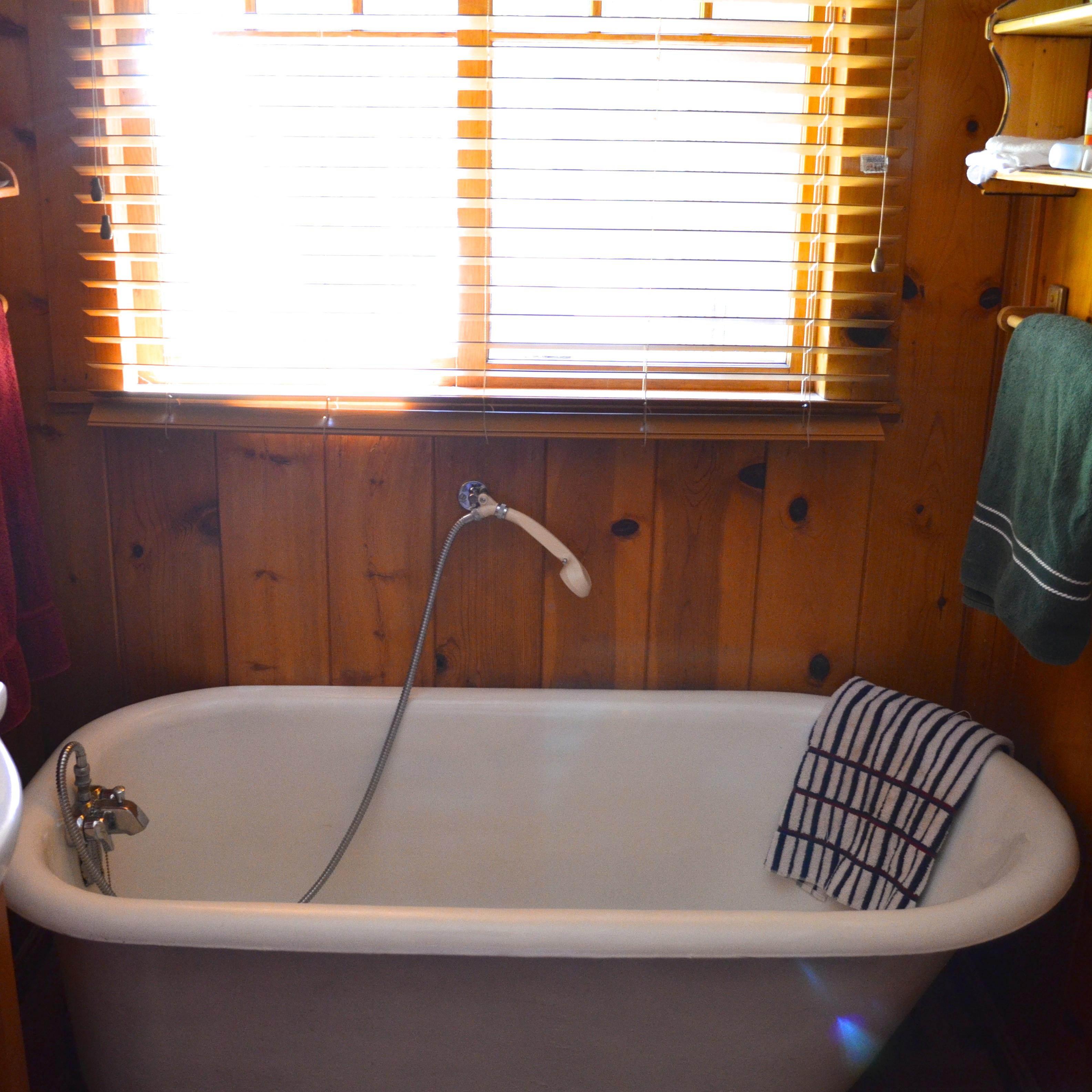 Introducing My Log Cabin Bathroom Renovation After