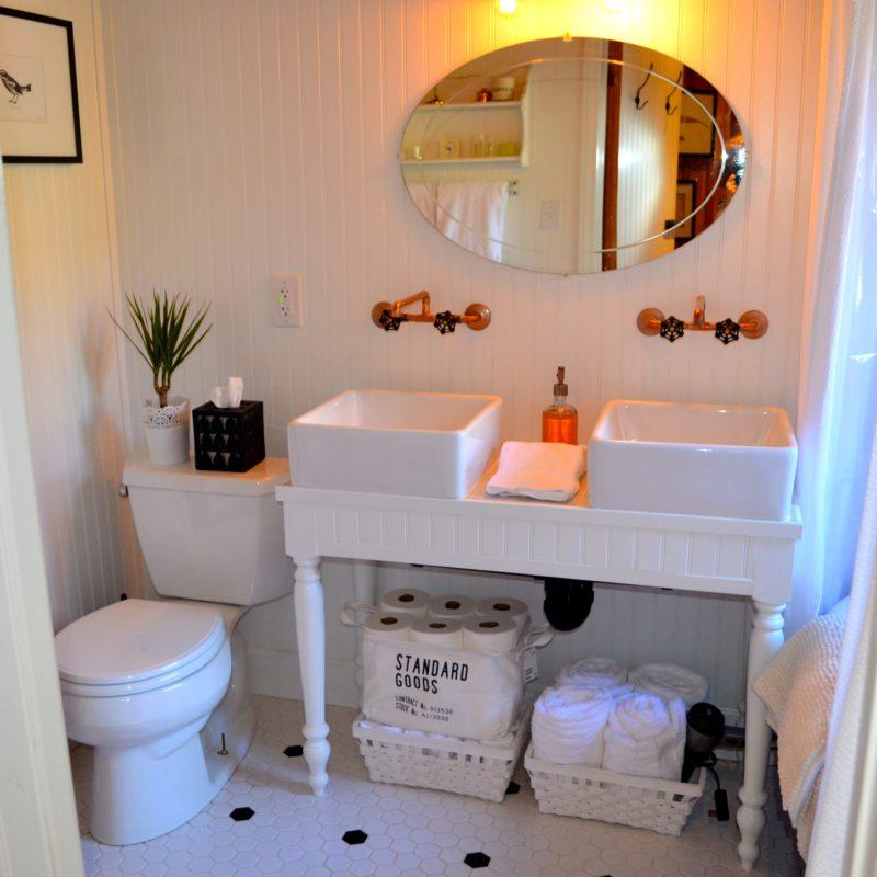 Introducing My Log Cabin Bathroom Renovation After Orange County