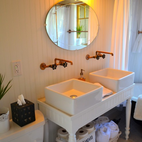 INTRODUCING MY #LOG #CABIN BATHROOM RENOVATION | www.AfterOrangeCounty.com | #BigBearLake, California