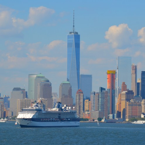 SAILING OUT OF NEW YORK HARBOR | www.AfterOrangeCounty.com | #NCL #CruiseLine #TheHaven #NorwegianCruiseLines #NYC  #1WTC #9/11| #Celebrity Cruise Lines #Summit