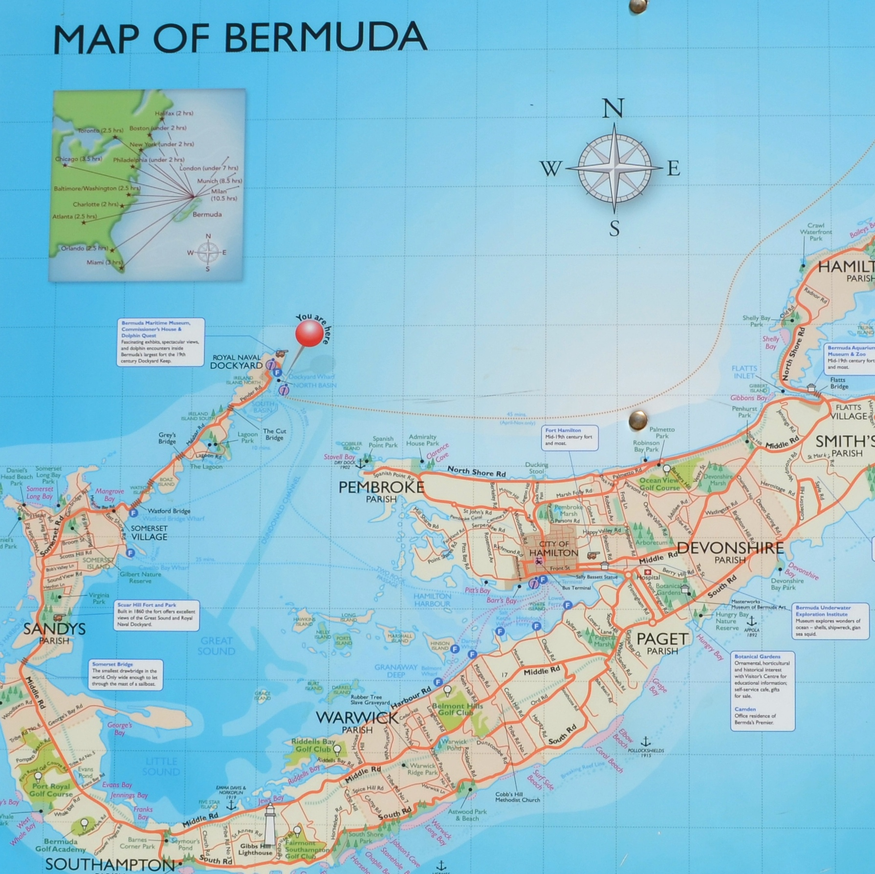 A VISIT TO THE BEAUTIFUL ISLAND OF BERMUDA After Orange County - Bermuda islands map