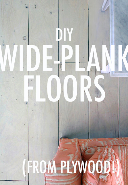 how to create beautiful plank flooring out of plywood