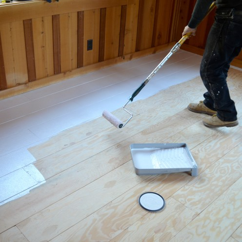 HOW TO CREATE BEAUTIFUL PLANK FLOORING OUT OF PLYWOOD | A tutorial by After Orange County | #Plank #WoodFlooring | www.AfterOrangeCounty.com