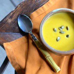 ROASTED PUMPKIN AND VEGETABLE SOUP | Recipe @ www.AfterOrangeCounty.com