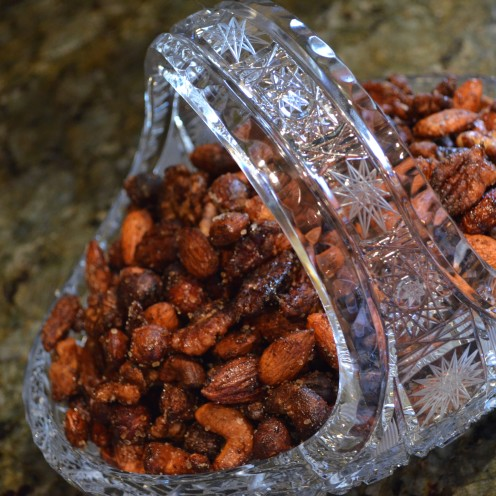 SWEET & SPICY ROASTED MIXED NUTS | Recipe at www.AfterOrangeCounty.com