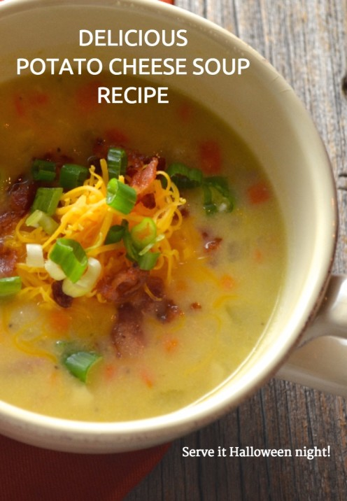 POTATO CHEESE SOUP | Recipe By www.AfterOrangeCounty
