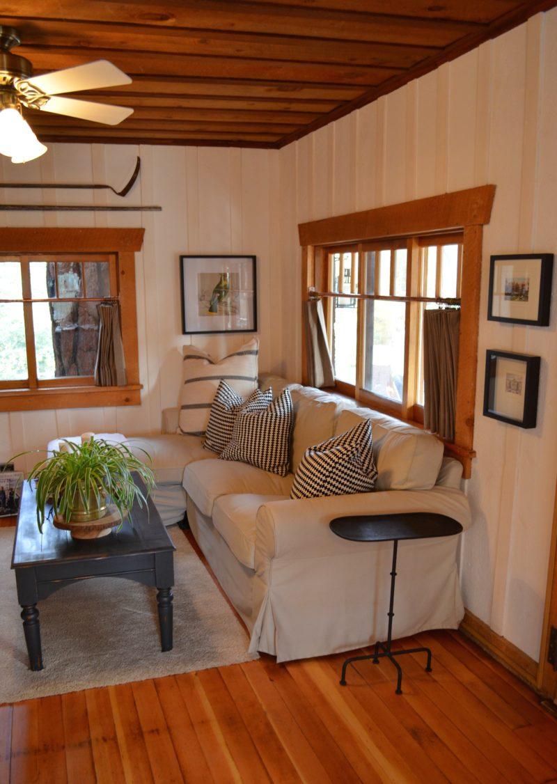 my log cabin living room renovation after orange county