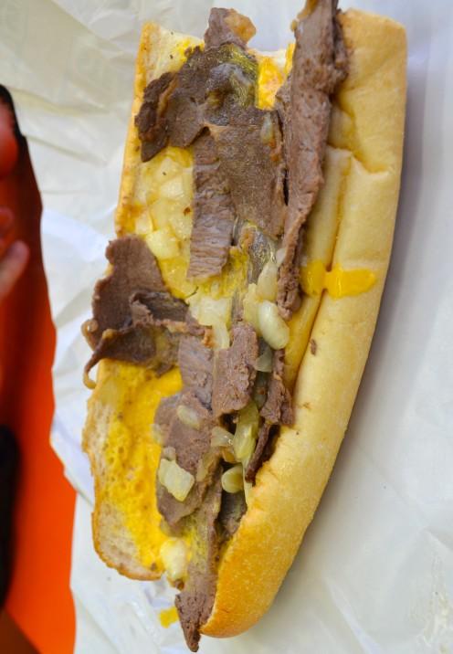 A PHILLY CHEESESTEAK THROWDOWN | Geno's Philly Cheesesteaks | www.AfterOrangeCounty.com