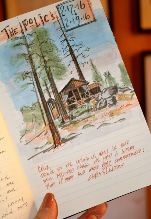FROM THE GUESTBOOK AT STONE HILL COTTAGE | VRBO.com/804397 | Fawnskin, CA | www.AfterOrangeCounty.com