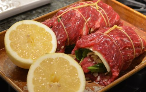 GRILLED SPINACH PARMESAN PINWHEEL STEAKS   Recipe at www.AfterOrangeCounty.com
