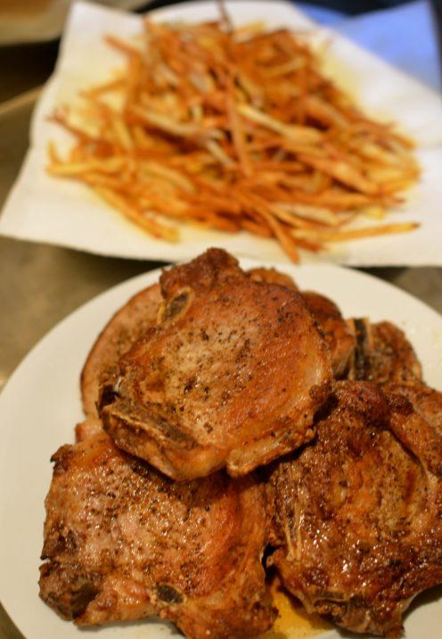 Pan Fried Pork Chops With Mustard Cream Sauce Www Afterorangecounty Com