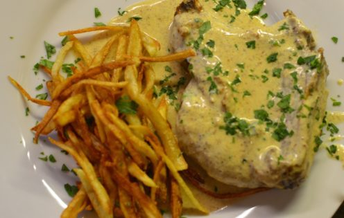 PAN FRIED PORK CHOPS WITH MUSTARD CREAM SAUCE | www.AfterOrangeCounty.com