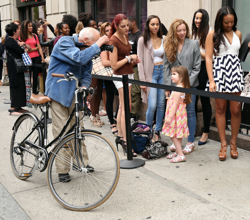 Bill Cunningham photographed model contestants in New York in 2015. Mr. Cunningham | Photo Credit Cindy Ord/Getty Images