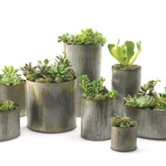 Galvanized Corrugated Zinc Flower Pot from Etsy.com | www.AfterOrangeCounty.com
