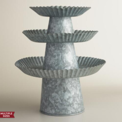 Galvanized Cake Stands from Cost Plus World Market | www.AfterOrangeCounty.com