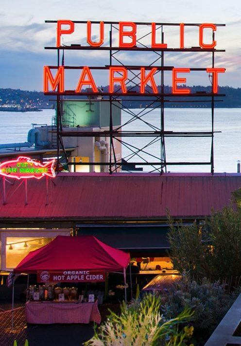 CHECKING INTO SEATTLE'S INN AT THE MARKET | View of Pike Place Market | www.AfterOrangeCounty.com