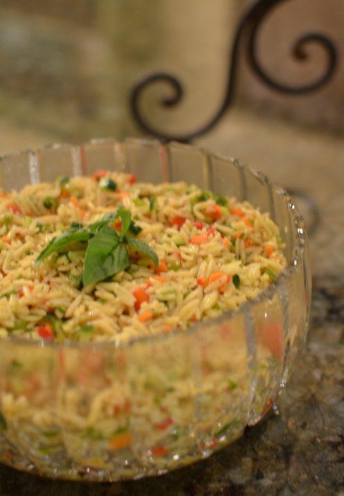 SUNDAYS WITH CELIA VOL 8 |Kitchen Sink Orzo Pasta Salad | www.AfterOrangeCounty.com