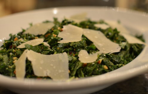 SUNDAYS WITH CELIA VOL 8 |Chopped Kale Salad with Dates, Almonds & Parmesan | www.AfterOrangeCounty.com