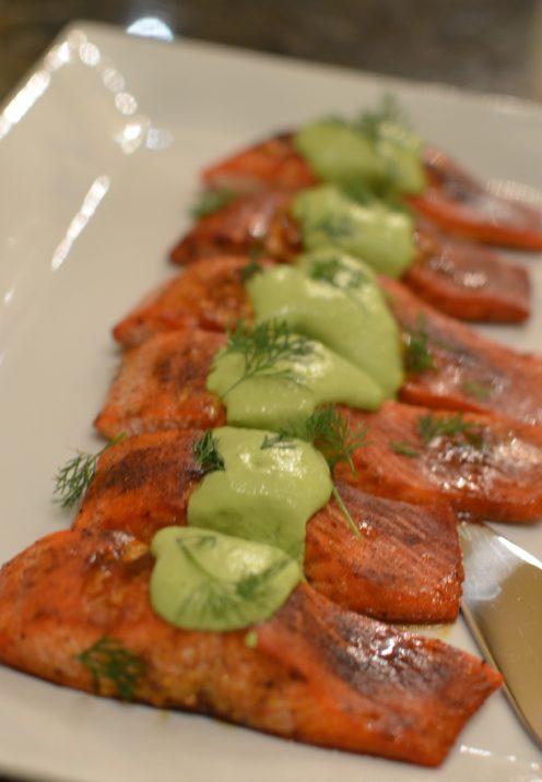 SUNDAYS WITH CELIA VOL 8 |Maple Glazed Salmon & Creamy Herb Sauce | www.AfterOrangeCounty.com
