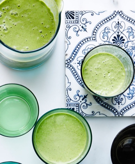 Green Matcha Smoothie Recipe | MY ANTIOXIDANT RICH DINNER PARTY | www.AfterOrangeCounty.com