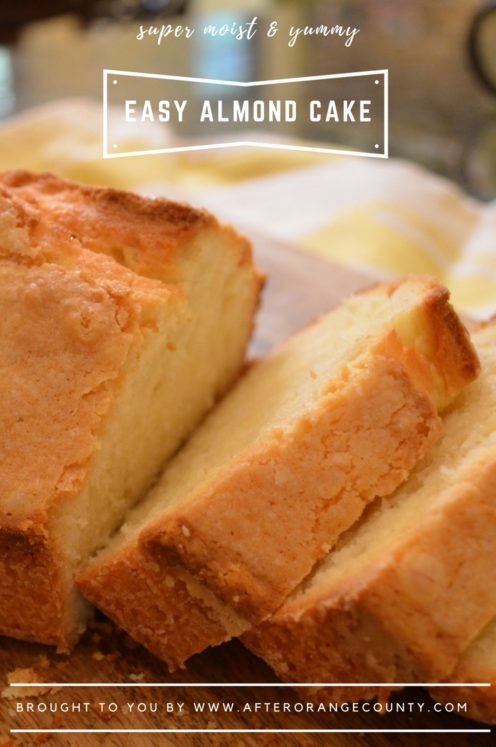 EASY ALMOND CAKE RECIPE | www.AfterOrangeCounty.com