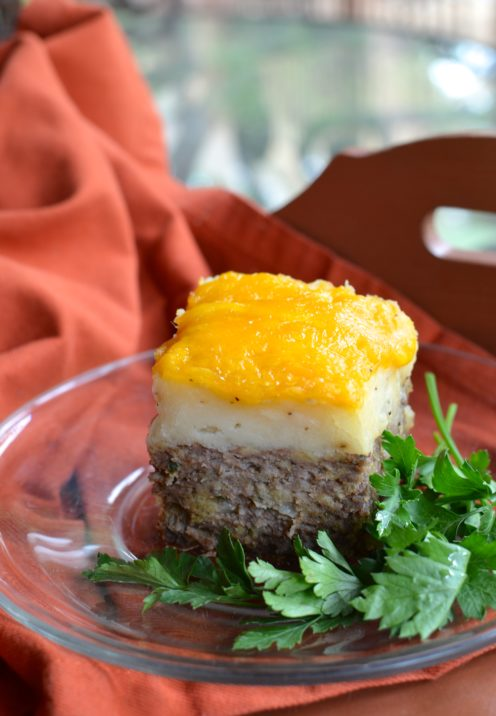 MEATLOAF WITH CHEESY MASHED POTATOES | Recipe @ www.AfterOrangeCounty.com