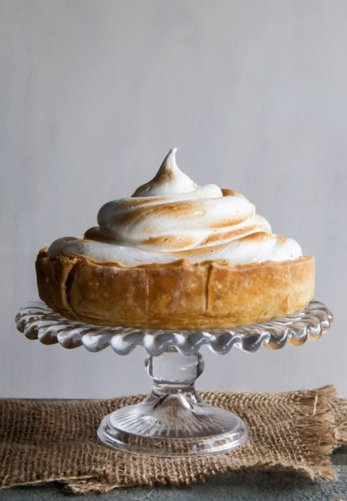 One Dozen Delicious Pumpkin Desserts | Deep Dish Pumpkin Meringue Pie | www.AfterOrangeCounty.com