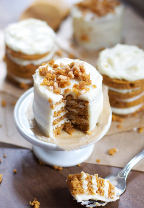 One Dozen Delicious Pumpkin Desserts | Mini Pumpkin Layer Cakes | www.AfterOrangeCounty.com