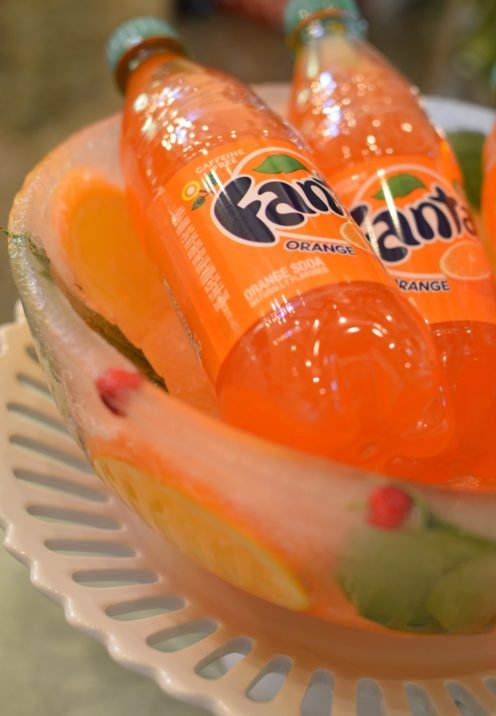 EASY YET ELEGANT HOLIDAY SNACK IDEAS | Coca-Cola & Fanta Pairs with Ice Bowl DIY | www.AfterOrangeCounty.com