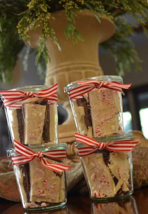 HOW TO HOST A CASUAL HOLIDAY COMFORT FOOD DINNER | Homemade Peppermint Bark as Party Favors | www.AfterOrangeCounty.com