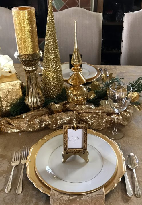 MY CHRISTMAS TABLE AND DIY PLACE CARDS | www.AfterOrangeCounty.com