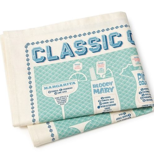 AN UNCOMMONLY GREAT RESOURCE | Classic Cocktails Towel From UncommonGoods.com | www.AfterOrangeCounty.com