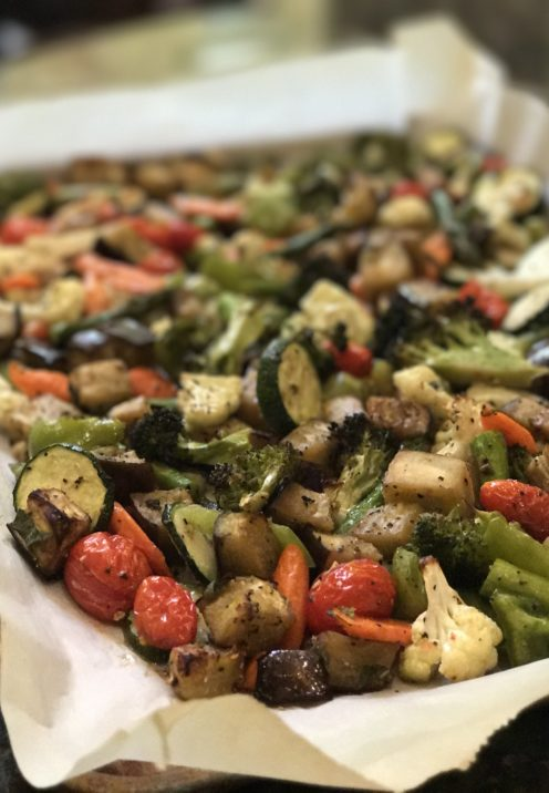 ROASTED VEGETABLE TRICOLORE PASTA SALAD RECIPE | www.AfterOrangeCounty.com