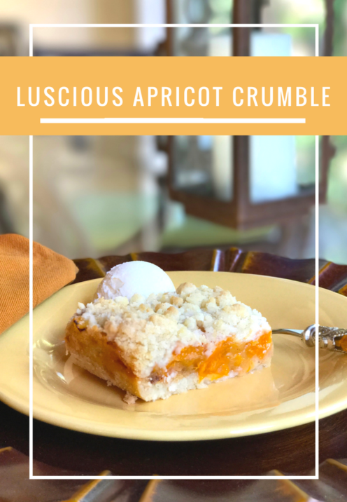 LUSCIOUS APRICOT CRUMBLE RECIPE | www.AfterOrangeCounty.com