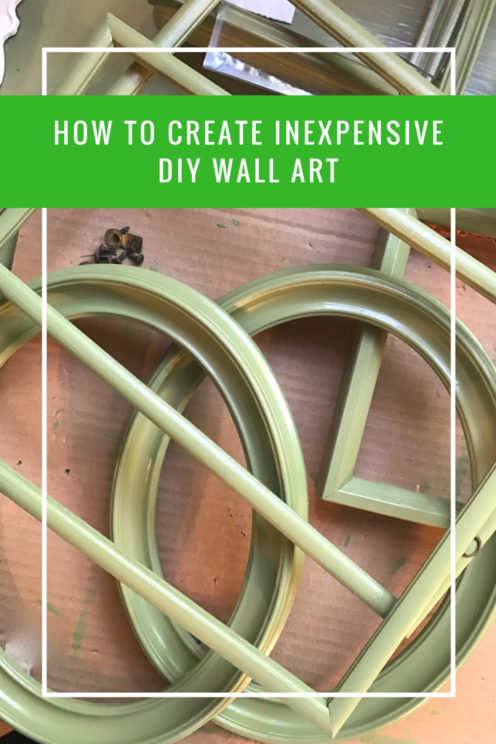 HOW TO CREATE INEXPENSIVE DIY WALL ART | www.AfterOrangeCounty.com