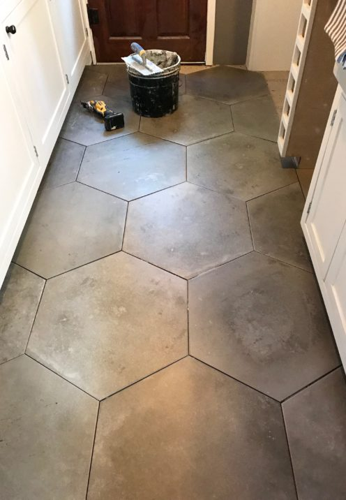 "THE HOUSE ON VICTORIA COURT KITCHEN RENO | Verese Grigio 20 1/2"" Hex By Arizona Tile 