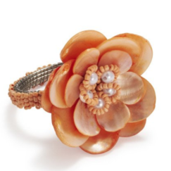 Sur La Table Mother of Pearl Flower Napkin Ring | www.AfterOrangeCounty.com