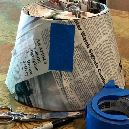 HOW TO RECOVER A LAMPSHADE WITH FABRIC | www.AfterOrangeCounty.com