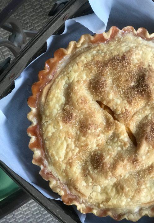 RECIPES FOR A DELICIOUS VIETNAMESE DINNER ON THE DOCK | Peach Pie | www.AfterOrangeCounty.com