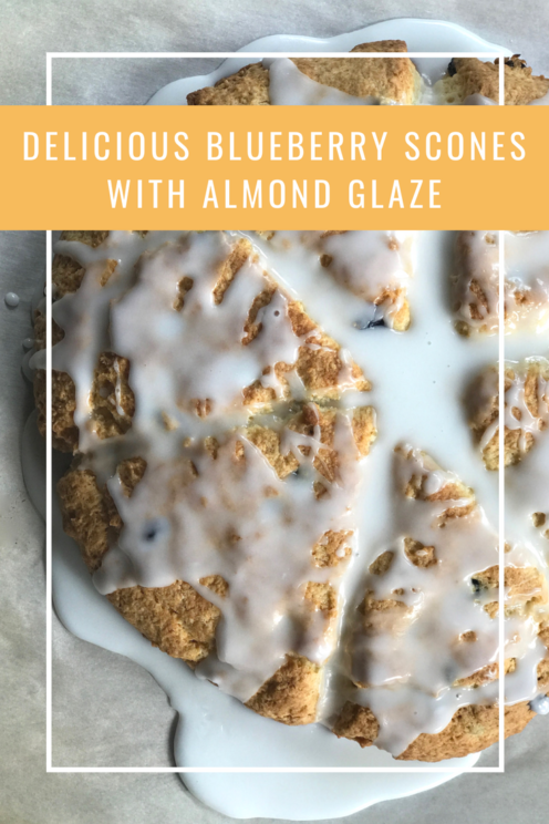 DELICIOUS BLUEBERRY SCONES WITH ALMOND GLAZE | Recipe | www.AfterOrangeCounty.com